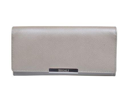 Dámská kožená peněženka SEGALI 7066 stříbrná