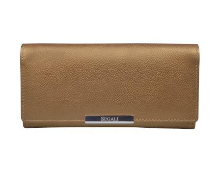 Dámská kožená peněženka SEGALI 7066 zlatá