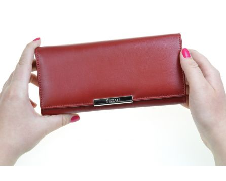 Dámská kožená peněženka SEGALI 7066 červená