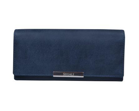 Dámská kožená peněženka SEGALI 7066 indigo