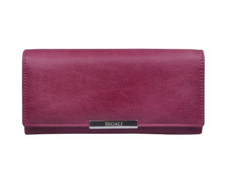 Dámská kožená peněženka SEGALI 7066 fucsia