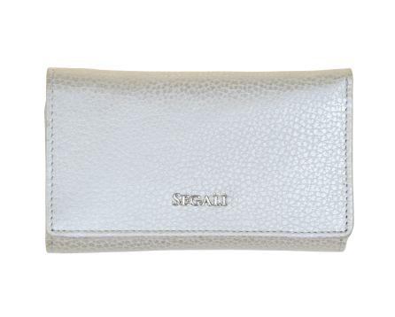 Dámská kožená peněženka SEGALI 7074 stříbrná