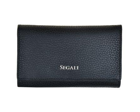 Dámská kožená peněženka SEGALI 7074 B černá