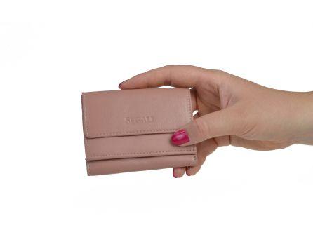 Dámská kožená peněženka SEGALI 1756 baby pink