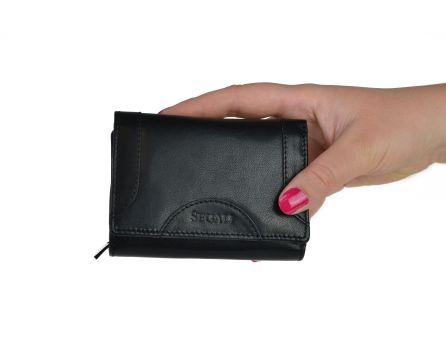 Dámská kožená peněženka SEGALI 7196 B černá