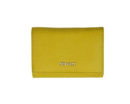 Dámská kožená peněženka SEGALI 7106 B žlutá