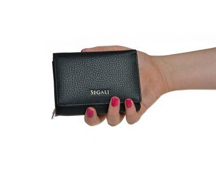 Dámská kožená peněženka SEGALI 7106 B černá