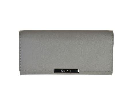 Dámská kožená peněženka SEGALI 7066 šedá