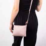 Dámská kabelka kožená SEGALI A6B baby pink
