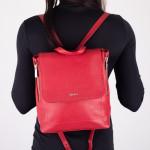 Dámský batoh kožený SEGALI 9027 rojo